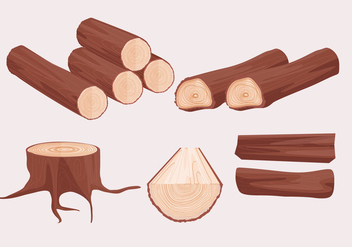 Wood Logs Vectors - бесплатный vector #345357