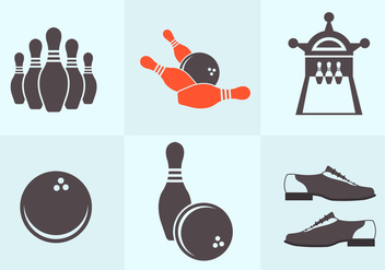 Bowling Vectors - Kostenloses vector #345387