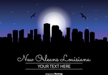 New Orleans Night Skyline - Free vector #345417
