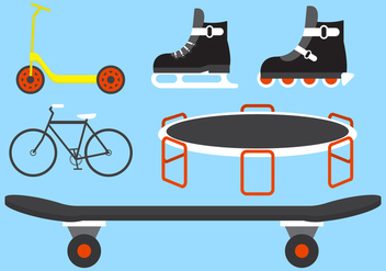 Vector Set of Several Outdoor Activity Equipments - Free vector #345427
