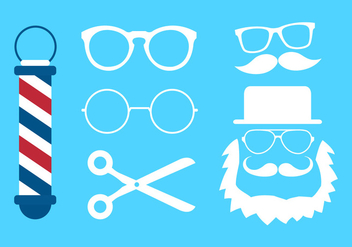 Vector Collection of Glasses and Barber Icons - Free vector #345507