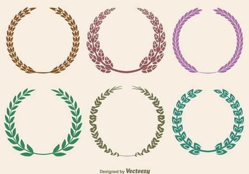 Laurel wreaths - vector gratuit #345547