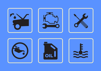 Car Interface Vector Icons - Kostenloses vector #345577