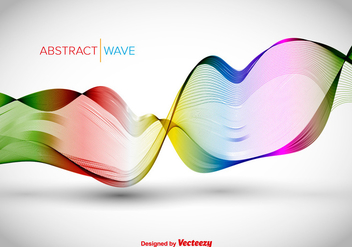 Colorful abstract wave - Free vector #345607