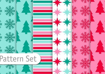 Decoratice Christmas Pattern Set - Free vector #345617