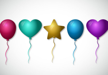 Set of Colorful Balloon Vectors - Kostenloses vector #345667