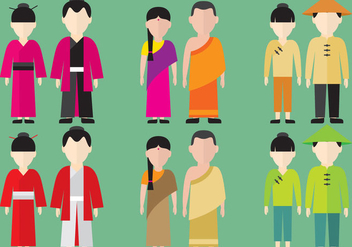 Asian Characters - vector gratuit #345687