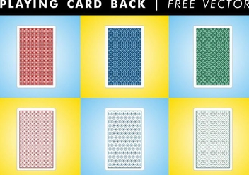 Playing Card Back Free Vector - Free vector #345697