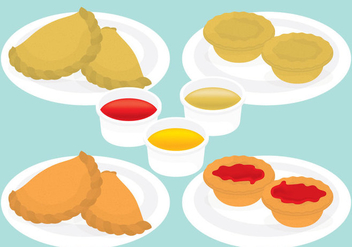 Empanadas And Meat Pies - vector gratuit #346007