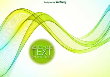 Abstract blue and green wave - vector gratuit #346077