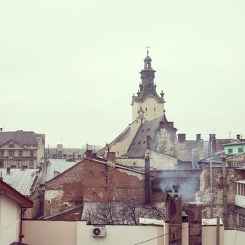 View on architecture of Lviv, Ukraine - image #346257 gratis