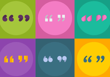 Free Vector Quotation Marks - vector #346417 gratis