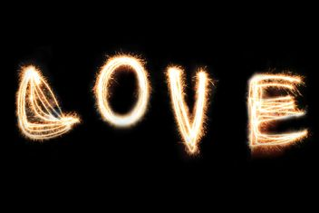 Word Love on black background - бесплатный image #346587