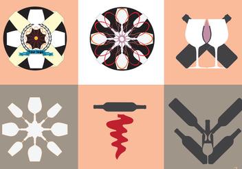 Wine Vector Logos - Kostenloses vector #346637
