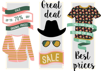 Free Fashion Sale Vector Background - Free vector #346717