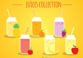 Fruit Juices Collection - vector gratuit #346797
