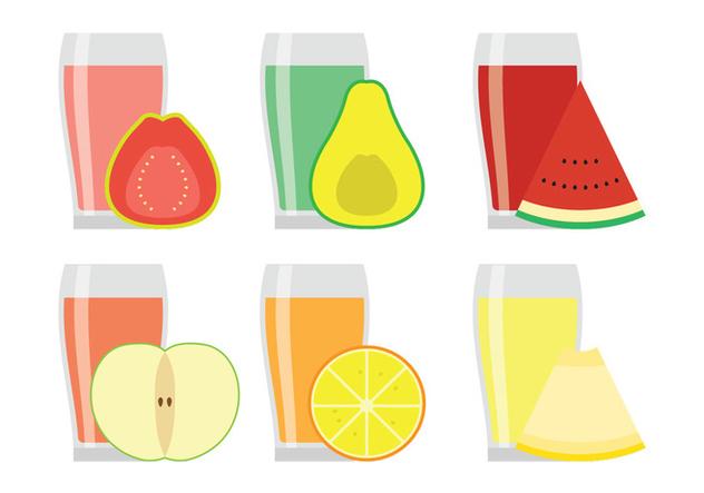 Vector Fruit Juices - vector gratuit #346807