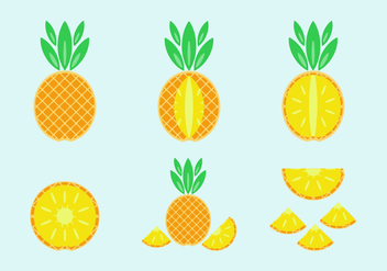 Free Pineapple Vector Pack - vector gratuit #346857