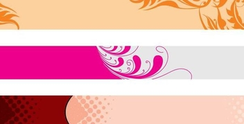 Floral Header Banner Set - Free vector #346877
