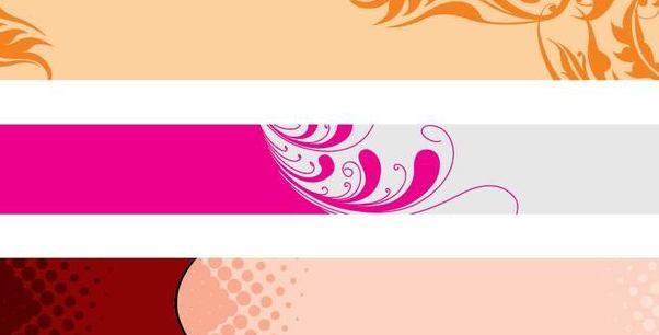 Floral Header Banner Set - vector gratuit(e) #346877