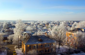 Aerial view on houses of Podolsk in winter - бесплатный image #346997