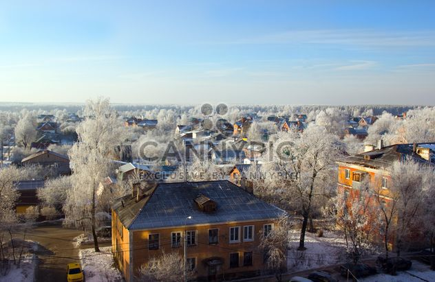 Aerial view on houses of Podolsk in winter - Free image #346997