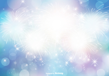 Abstract Bokeh and Glitter Background Illustration - Free vector #347377