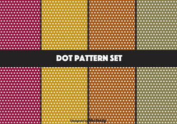 Retro Colored Dot Pattern Set - Kostenloses vector #347407