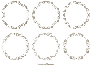 Cute Hand Drawn Style Frame Set - Free vector #347597