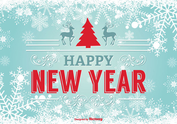 Happy New Year Illustration - бесплатный vector #347607