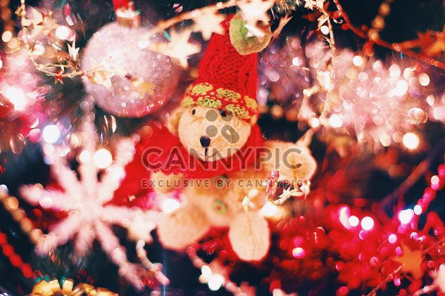 Christmas decorations on Christmas tree closeup - Free image #347797