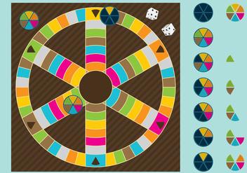 Trivia Board Game - Free vector #348197