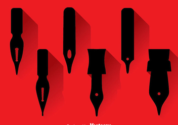 Pen Nib Black icons - Free vector #348207