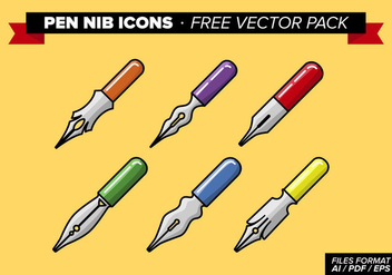 Pen Nib Icons Free Vector Pack - Free vector #348287