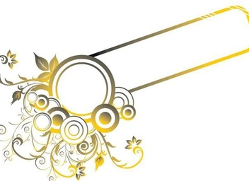 Circles Swirls Golden Frame - Free vector #348527