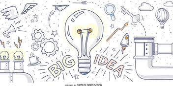 Big idea hand drawn design - vector gratuit #348537