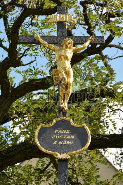 Jesus Christ on cross outdoors - Free image #348577