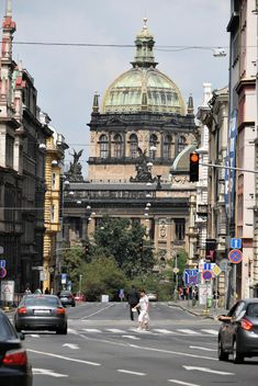 View on architecture on street of Prague - бесплатный image #348607