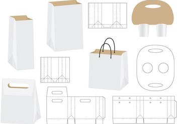 Die Cut Bags - Free vector #348697
