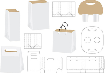 Die Cut Bags - бесплатный vector #348697