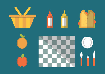 Free Family Picnic Vector Illustrations #1 - Kostenloses vector #348797
