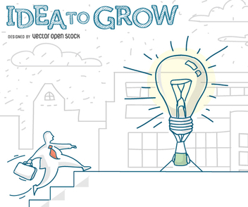 businessman Idea to grow - vector gratuit #348897