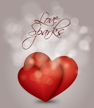 Hearts Bokeh Light Valentine Design - Free vector #348907