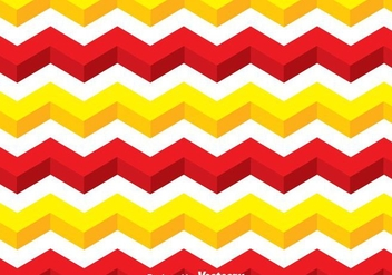 Yellow And Red Line Chevron Pattern - vector gratuit #349177