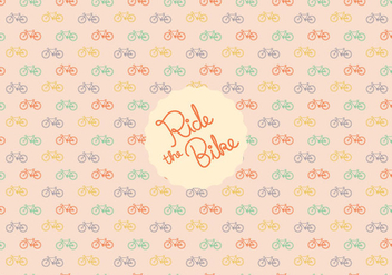Bicycle pattern background - vector gratuit #349317