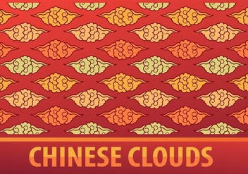 Chinese Clouds Pattern - vector #349337 gratis