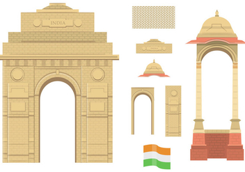 India Gate - vector gratuit #349517