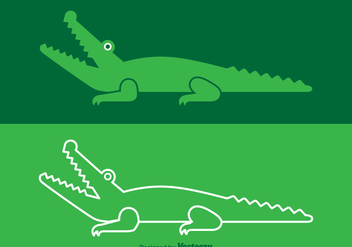 Free Vector Crocodile Logo - Free vector #349537
