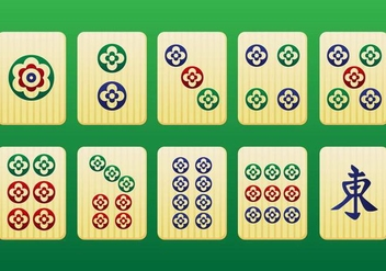 Mahjong Pieces 3rd pack - Vector - Free vector #349567