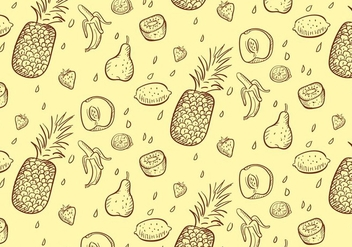 Fruit Pattern - vector gratuit #349637
